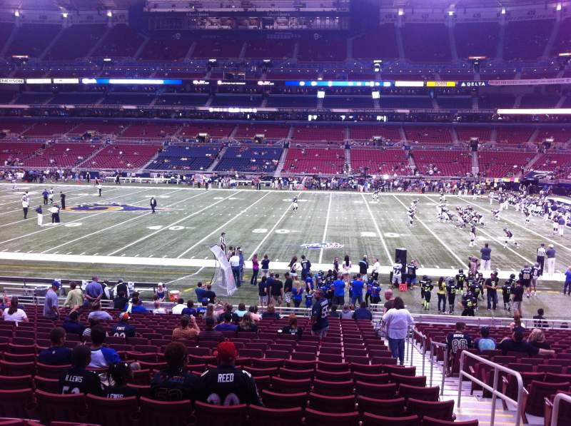 Seating view for The Dome at America's Center Section 139 Row U Seat 2