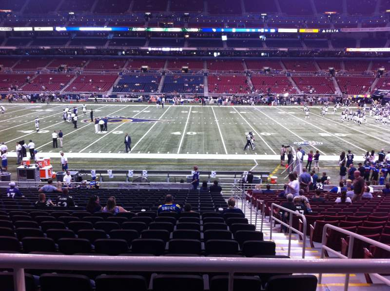 Seating view for The Dome at America's Center Section 140 Row U Seat 2