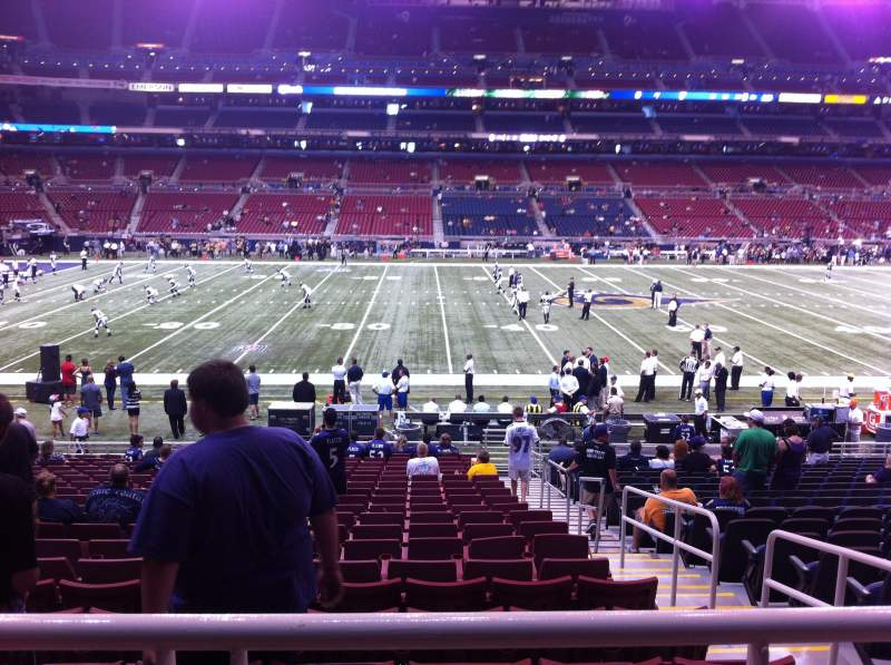 Seating view for The Dome at America's Center Section 142 Row U Seat 2