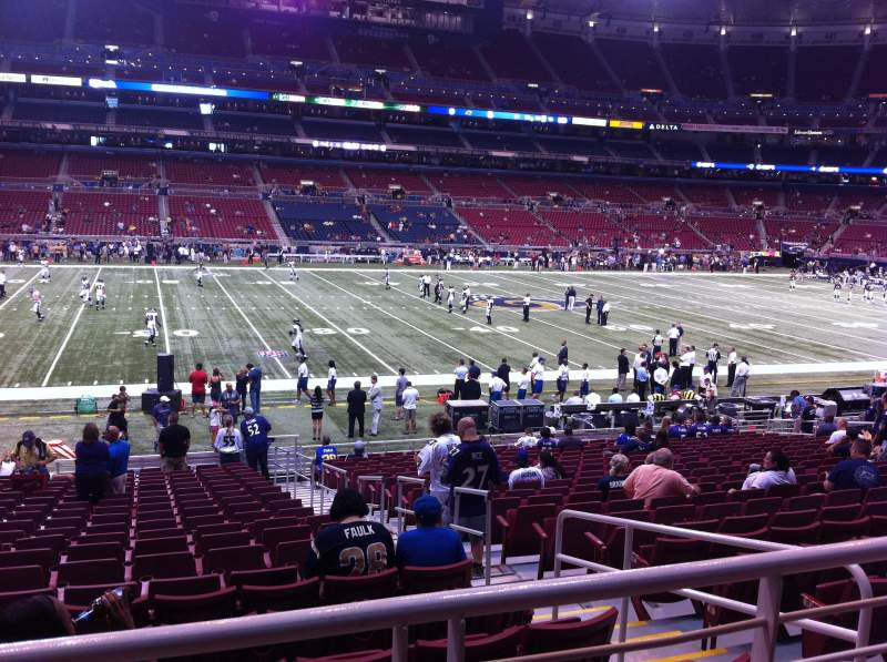 Seating view for The Dome at America's Center Section 143 Row U Seat 2