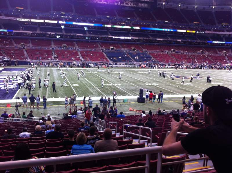 Seating view for The Dome at America's Center Section 145 Row U Seat 3