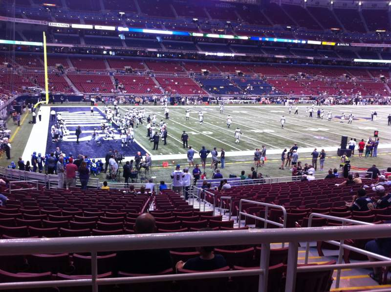 The Dome at America's Center, section 147, row U, seat 2 ...