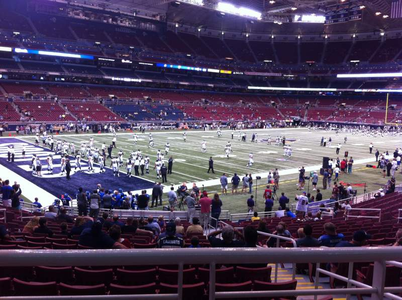 Seating view for The Dome at America's Center Section 149 Row U Seat 2