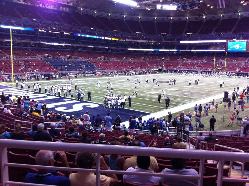 Seating view for The Dome at America's Center Section 151 Row U Seat 2