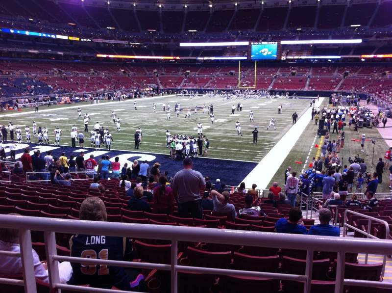 Seating view for The Dome at America's Center Section 152 Row U Seat 2