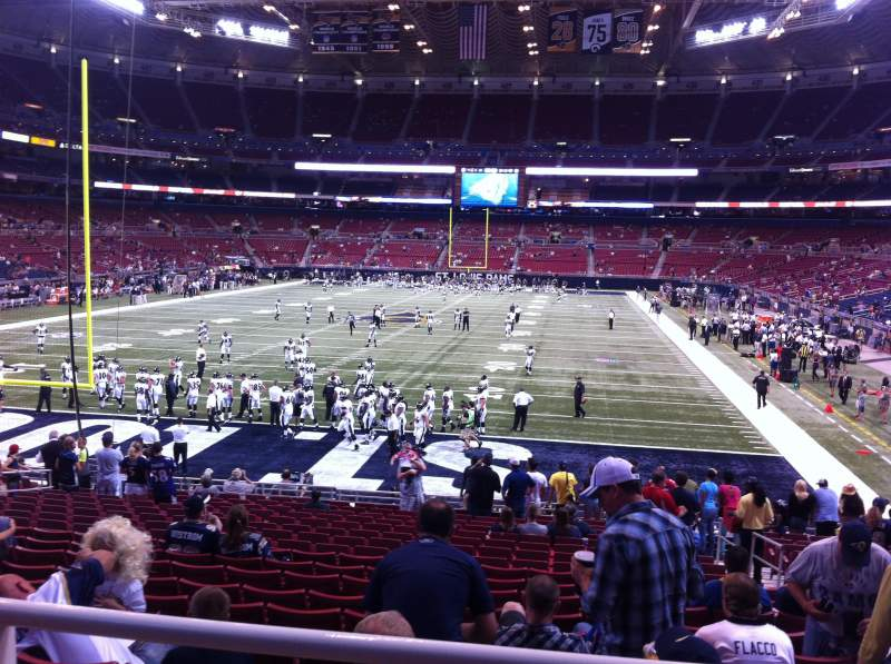 Seating view for The Dome at America's Center Section 153 Row U Seat 2
