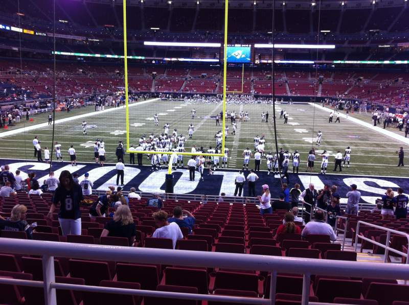 Seating view for The Dome at America's Center Section 154 Row U Seat 2
