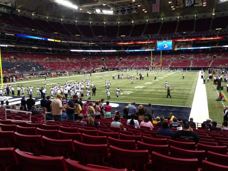 Seating view for The Dome at America's Center Section 152 Row Q Seat 11