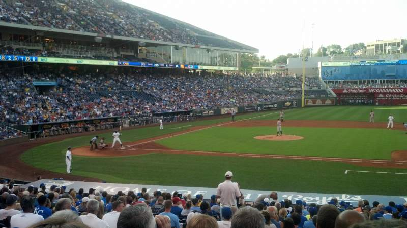 Seating view for Kauffman Stadium Section 135 Row X Seat 4