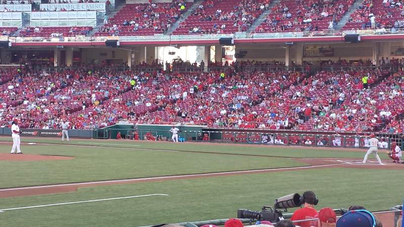 Seating view for Great American Ball Park Section 114 Row M Seat 8