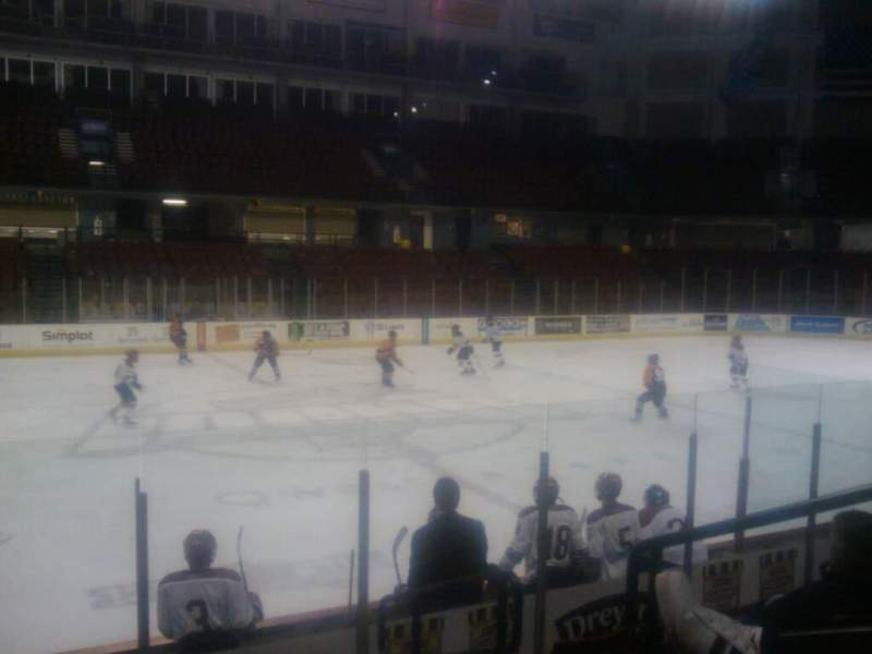 Seating view for Idaho Central Arena Section 104 Row h Seat 3