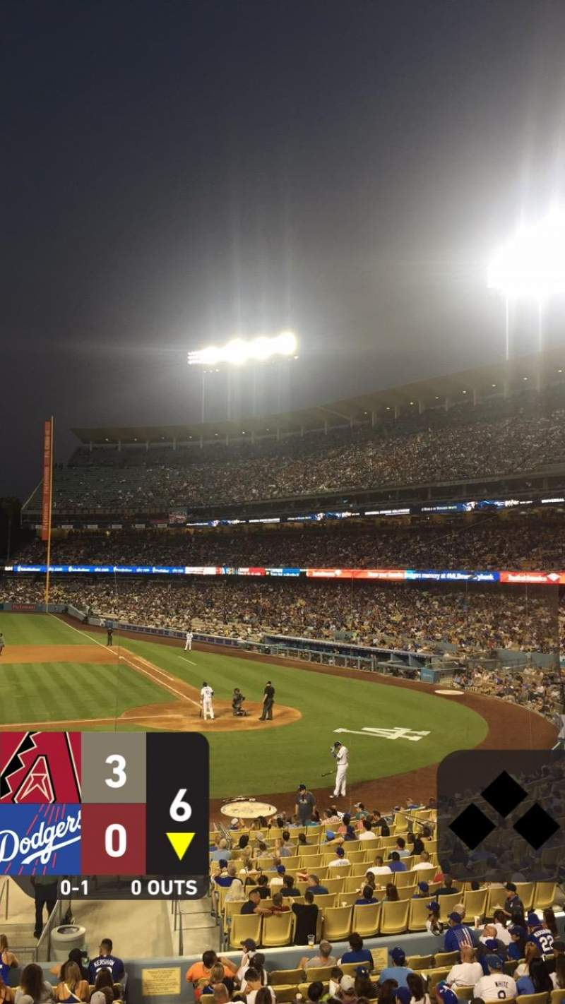 Seating view for Dodger Stadium Section 125LG Row A Seat 3