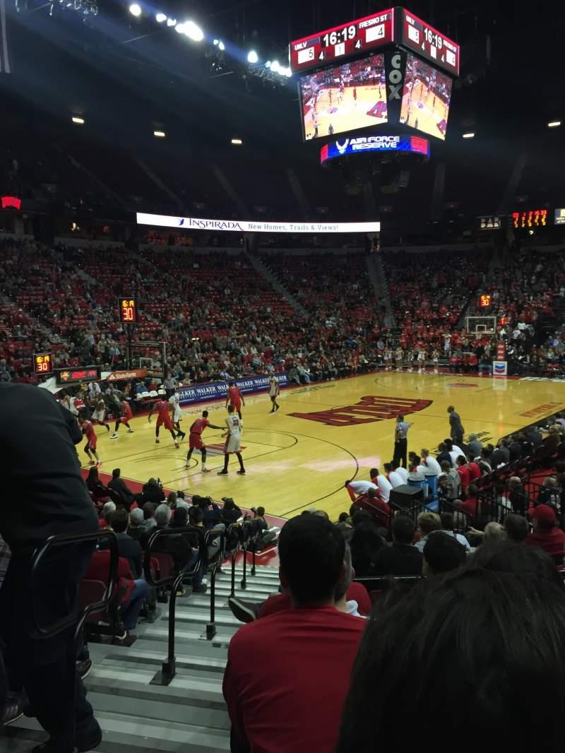 Thomas & Mack Center, section: 120, row: E, seat: 13