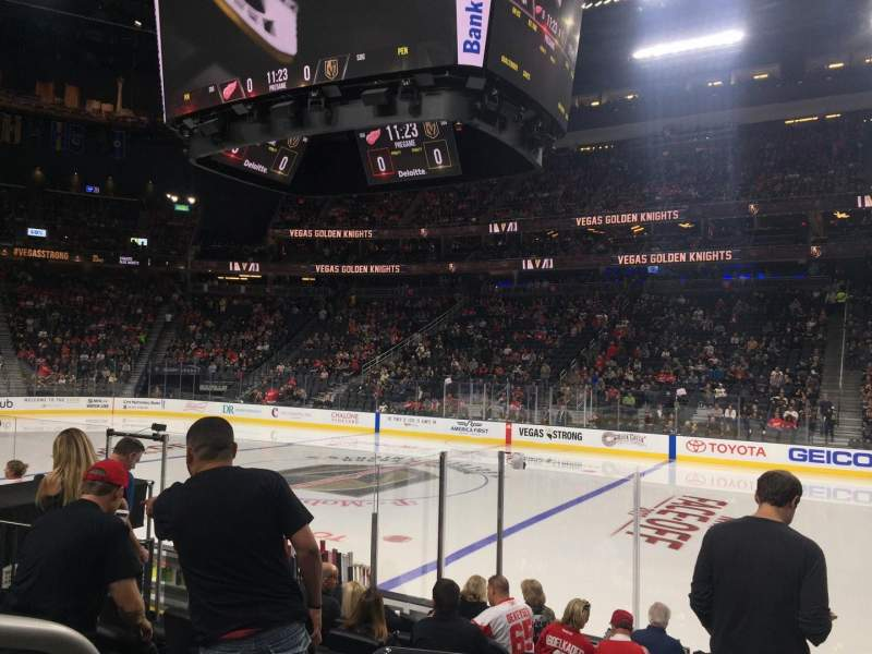 Seating view for T-Mobile Arena Section 7 Row E Seat 1