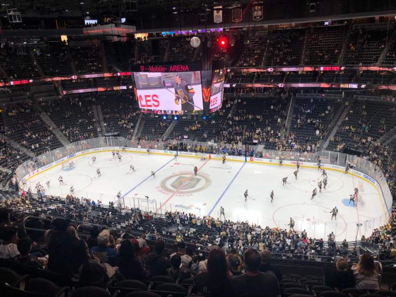 Seating view for T-Mobile Arena Section 225 Row L Seat 13