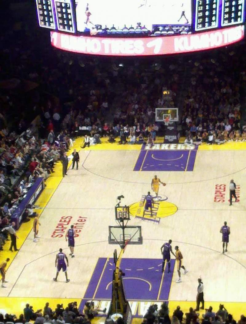 Seating view for Staples Center Section 326 Row 4 Seat 2