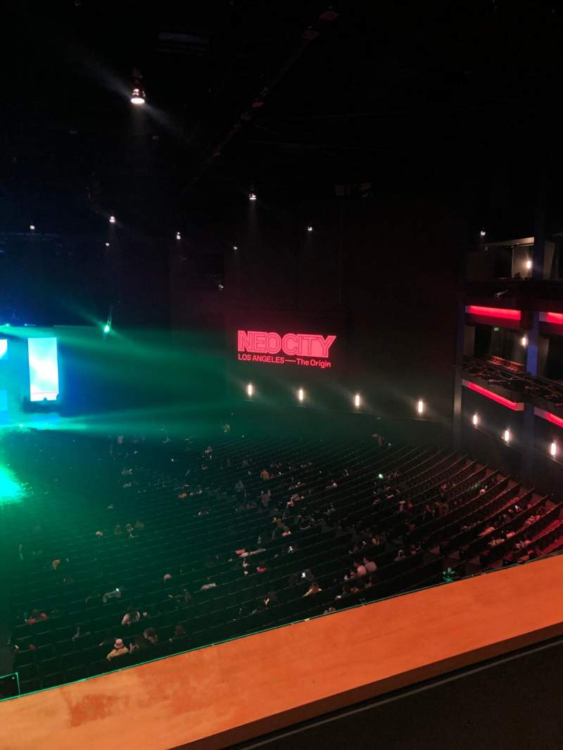 Seating view for Microsoft Theater Section Upper Mezz Center Left Row B Seat 214