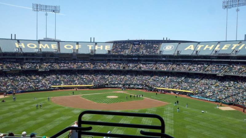 Seating view for Oakland Alameda Coliseum Section 239 Row 11 Seat 9