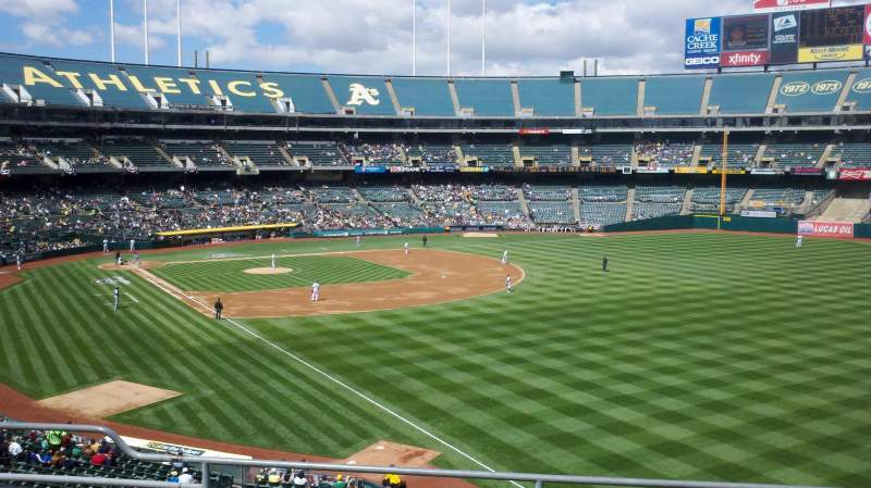 Seating view for Oakland Alameda Coliseum Section 204 Row 5 Seat 9