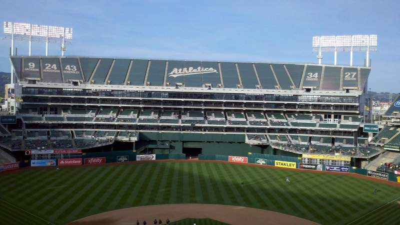 Seating view for Oakland Alameda Coliseum Section 317