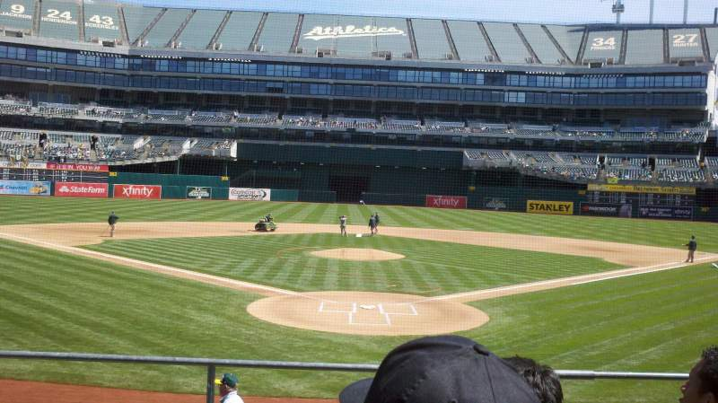 Seating view for Oakland Alameda Coliseum Section 117 Row 17 Seat 9