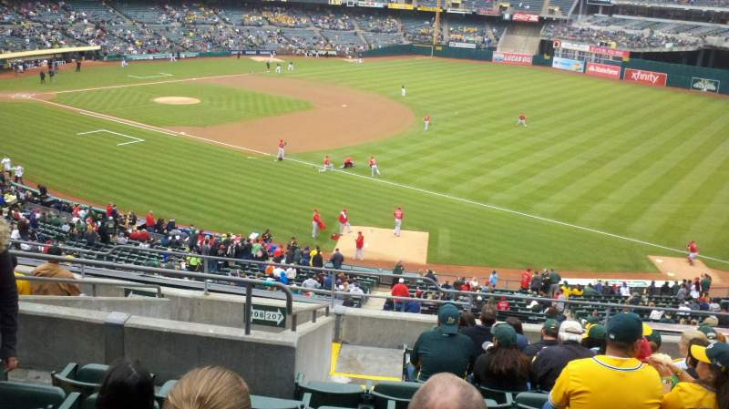 Seating view for Oakland Alameda Coliseum Section 207 Row 11 Seat 16