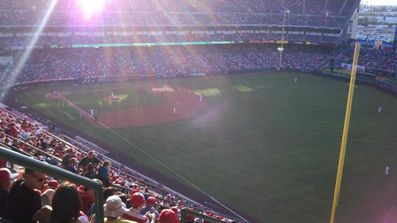 Seating view for Angel Stadium Section V536 Row K Seat 1