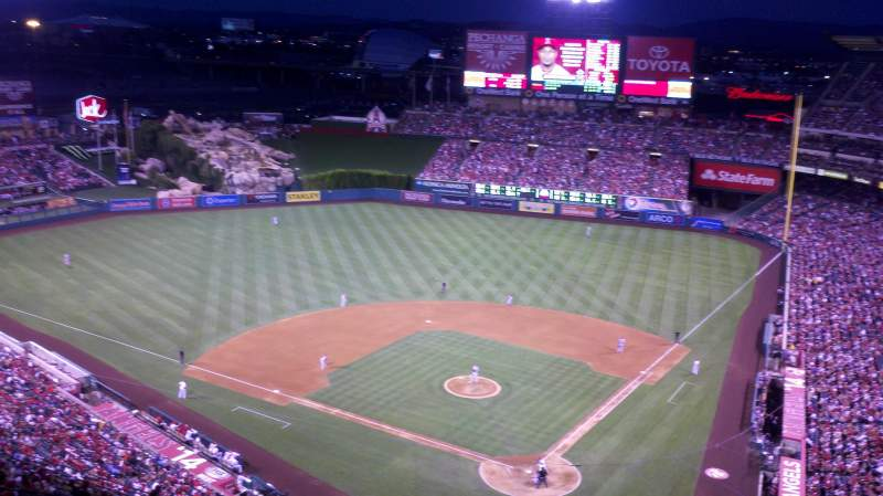 Seating view for Angel Stadium Section 518