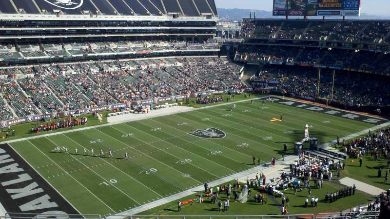 Seating view for Oakland Alameda Coliseum Section 322 Row 16 Seat 21