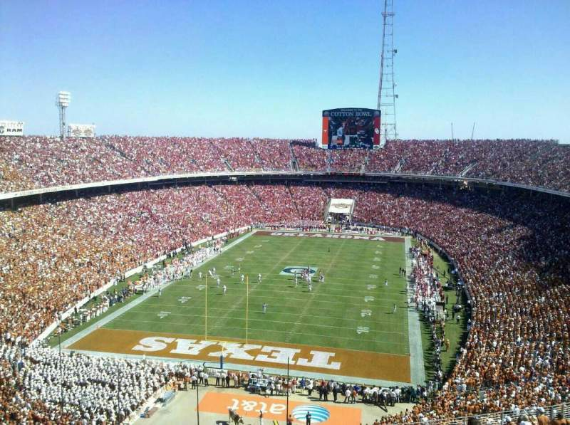 Seating view for Cotton Bowl Section 116
