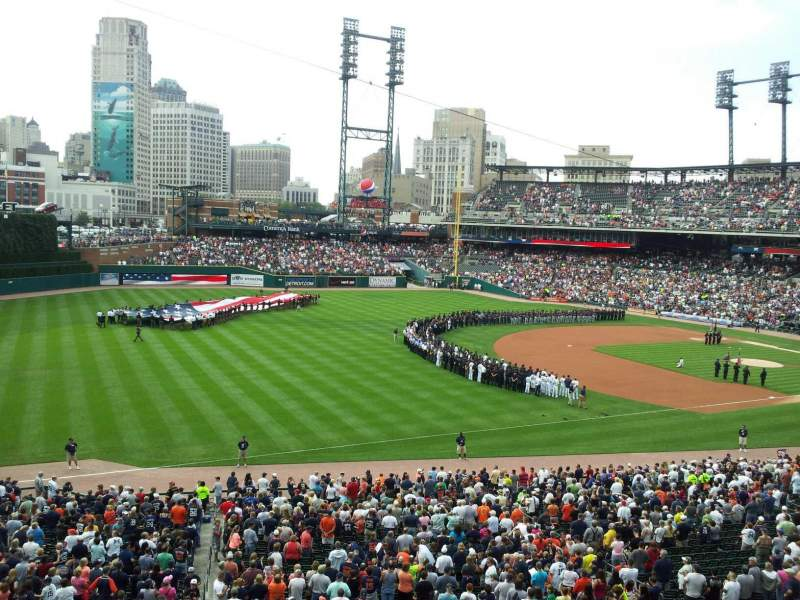 Seating view for Comerica Park Section champions club