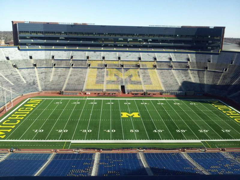 Seating view for Michigan Stadium Section press box