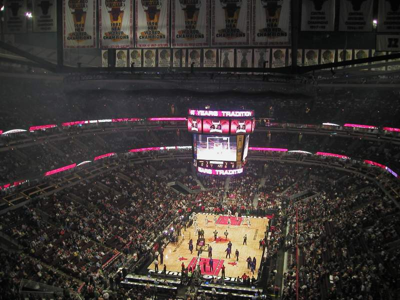 Seating view for United Center Section 324