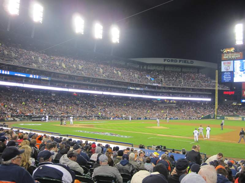 Seating view for Comerica Park Section 119 Row 22 Seat 13