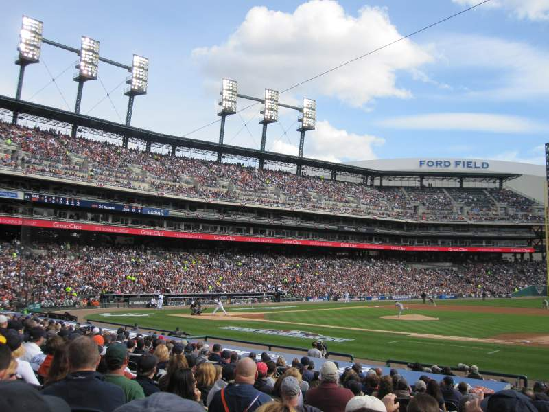 Seating view for Comerica Park Section 119 Row 22 Seat 14
