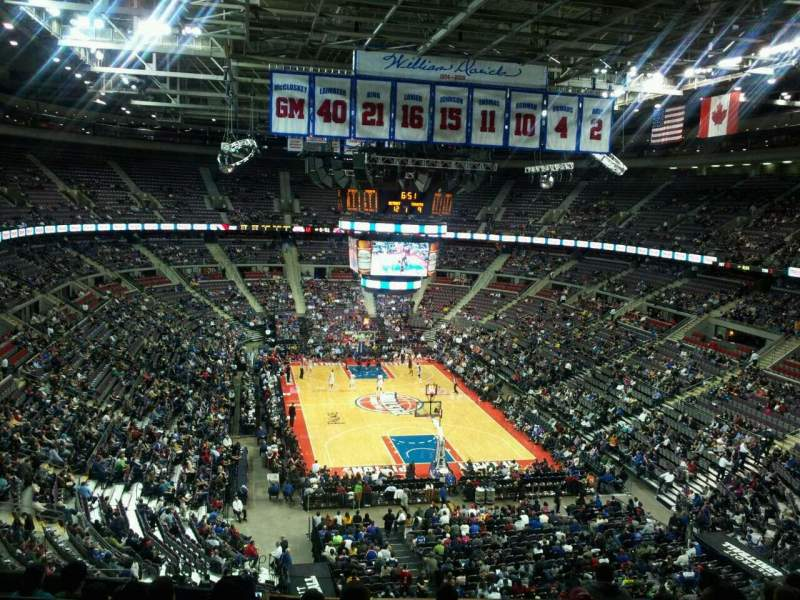 Seating view for The Palace of Auburn Hills Section 209 Row 5 Seat 11