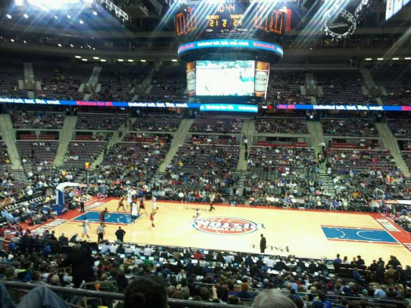 Seating view for The Palace of Auburn Hills Section 113 Row M Seat 14