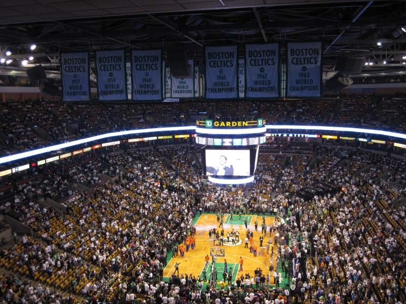 Seating view for TD Garden Section BAL 308 Row 15 Seat 6