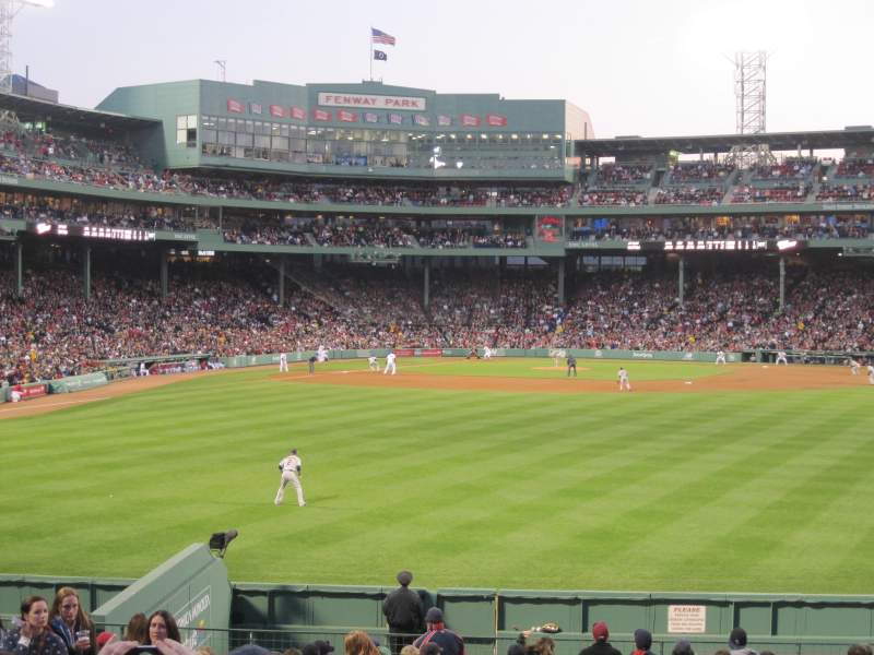 Seating view for Fenway Park Section Bleacher 41 Row 21 Seat 14