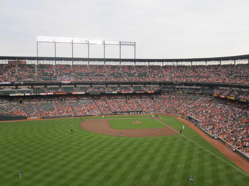 Seating view for Oriole Park at Camden Yards Section 386 Row 8 Seat 2