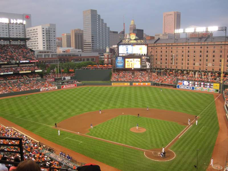 Oriole Park At Camden Yards Section 342 Home Of