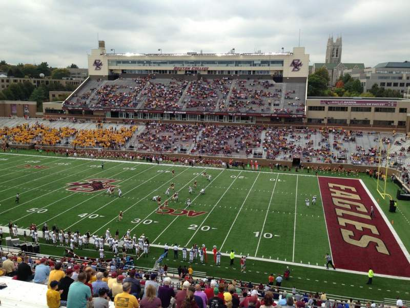 Seating view for Alumni Stadium Section TT Row 19 Seat 7