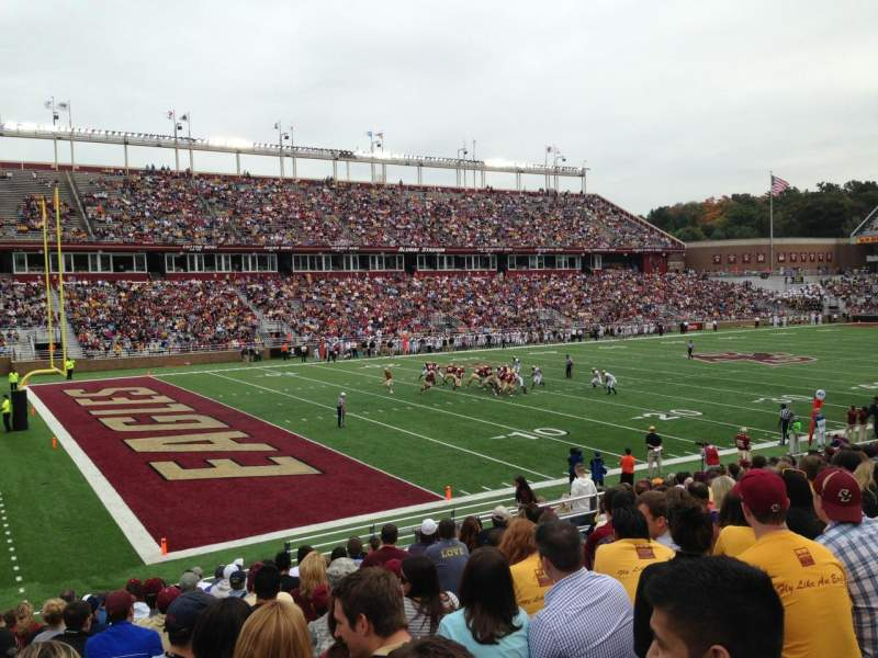 Seating view for Alumni Stadium Section A Row 26 Seat 20