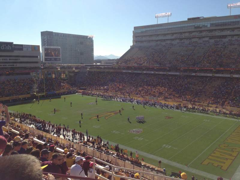Seating view for Sun Devil Stadium Section 235 Row 10 Seat 5
