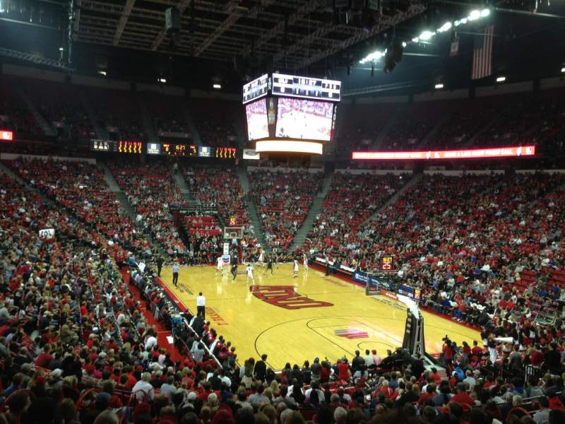 Seating view for Thomas & Mack Center Section 113 Row P Seat 11