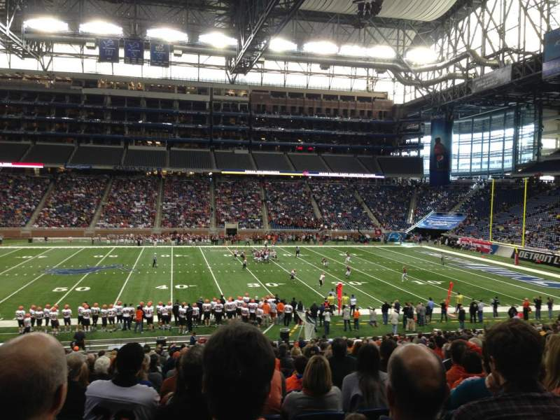 Seating view for Ford Field Section 128 Row 30 Seat 4