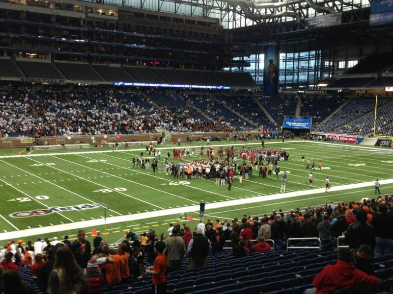 Seating view for Ford Field Section 124 Row 31