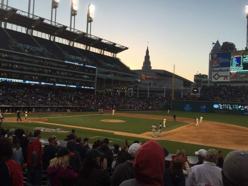 Seating view for Progressive Field Section 140 Row X Seat 5