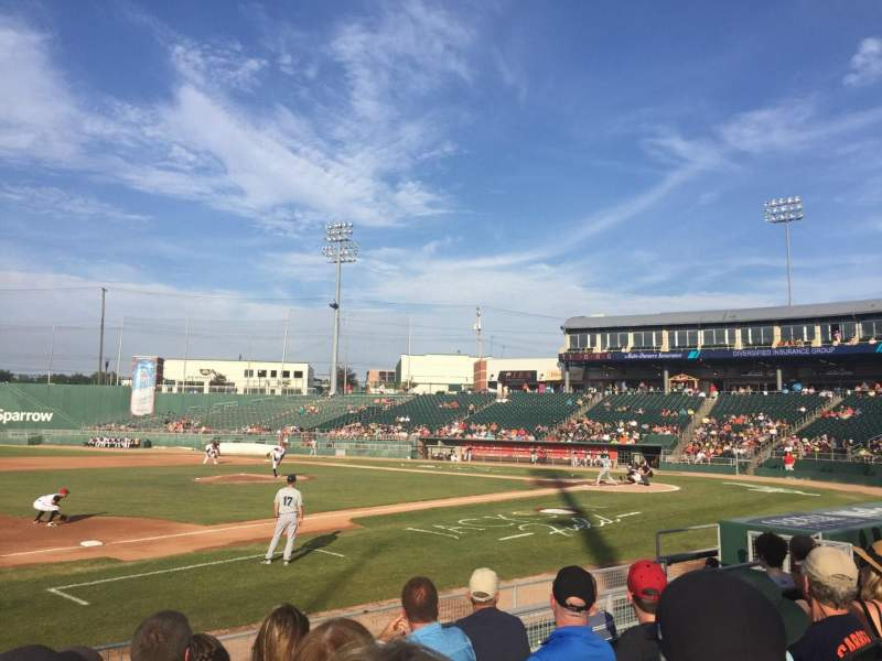 Seating view for Cooley Law School Stadium Section P Row 9 Seat 18