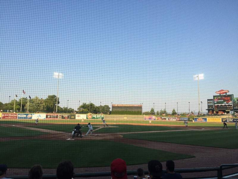 Seating view for Dow Diamond Section 108 Row 6 Seat 11